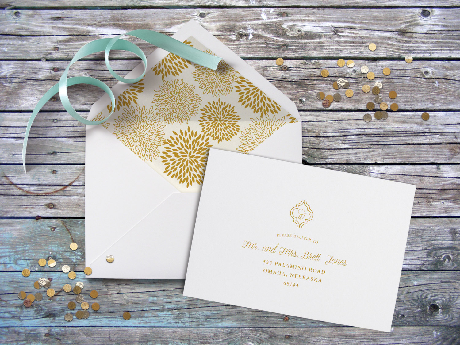 Calligraphy Guest Addressed Envelope, Digital Envelope Addressing ...